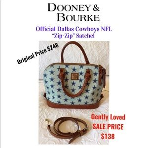 NFL Dallas Cowboys Dooney & Bourke ZipZip Satchel